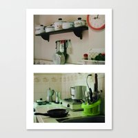mercedes Canvas Prints featuring Mercedes' kitchen. Trinidad, Cuba by Laura Lewis Photography