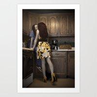 Nurse and her Housewife Art Print