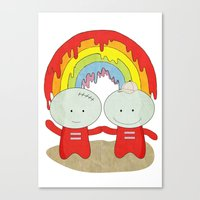 equality Canvas Prints featuring Equality by The Ghost and Robot