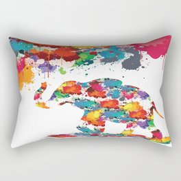 Paint elephant Rectangular Pillow