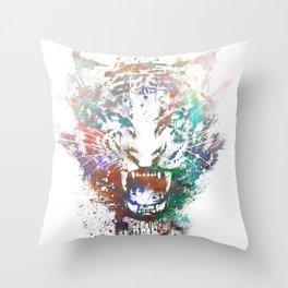 Cosmic Fury Throw Pillow