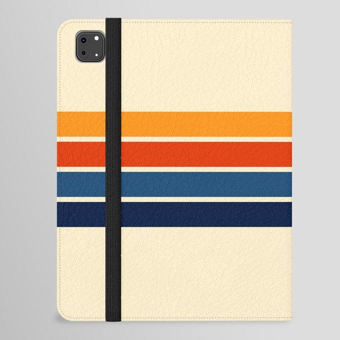 Classic Retro Stripes iPad Folio Case