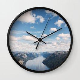 Lysefjorden, Pulpit Rock, Norway Wall Clock