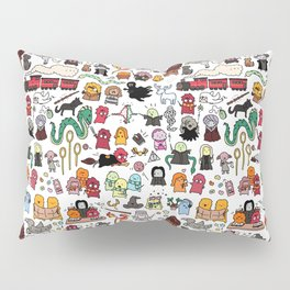 Kawaii Harry Potter Doodle Pillow Sham