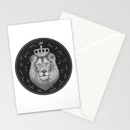 Zodiac sign Leo Stationery Cards