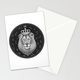 Zodiac sign Leo Stationery Cards