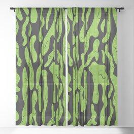Splattered Slime [BLACK] Sheer Curtain