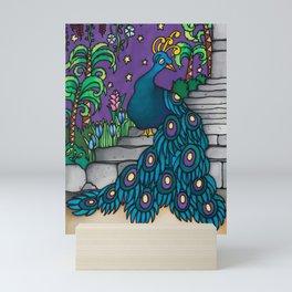 Felipe - a flamboyant peacock Mini Art Print