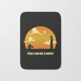 My Hero Sunset Bath Mat