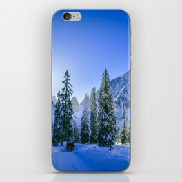 Sunny morning in Val Fiscalina iPhone Skin