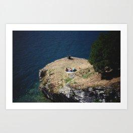 August Sun. Garda. Art Print