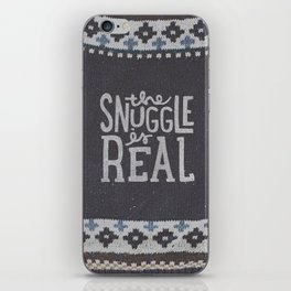 the snuggle is real iPhone Skin