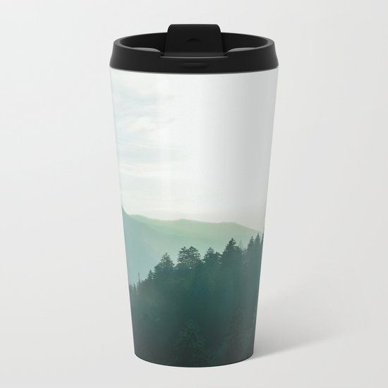 Green Forest, Slow down! Metal Travel Mug