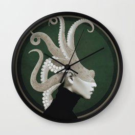 Octopus Portrait Wall Clock