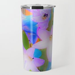 Bouquet in Blue and Pink 3 - enhanced and in blue white and green actually Travel Mug