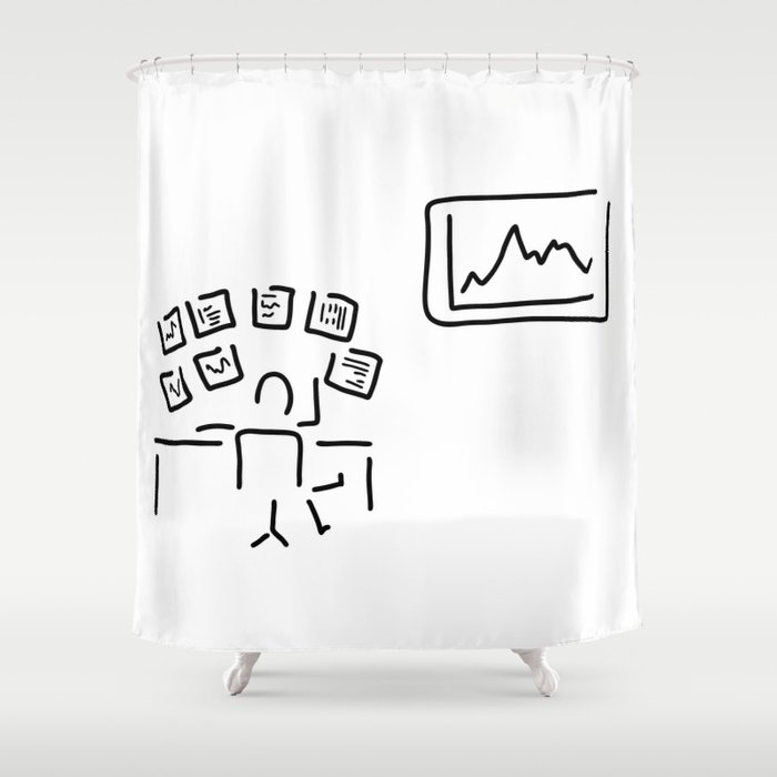 stock exchange stockbroker fund manager Shower Curtain