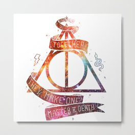 galaxy deadly hollow harrypotter Metal Print