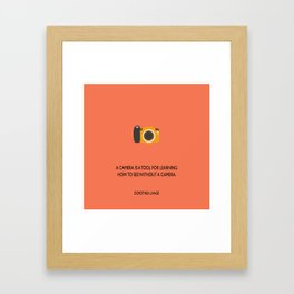 A camera Framed Art Print