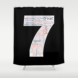 Life Path 7 (black background) Shower Curtain