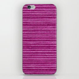 Magenta pink modern geometrical stripes pattern iPhone Skin