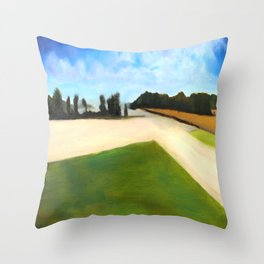Landscape Series - Partly Cloudy Throw Pillow