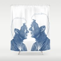 shadow Shower Curtains featuring Shadow by Jamile Munaier