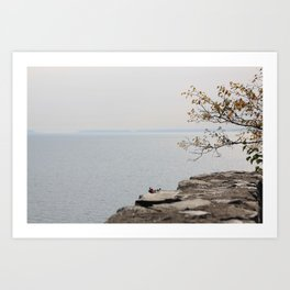 Along the North Shore Art Print