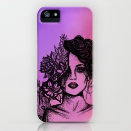 Sunset Succulent Babe | Sunset | Succulents | Cacti | Cactus | Succulent | Portrait | Pink | Orange iPhone Case