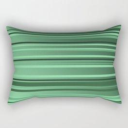 Stripes small only green Rectangular Pillow