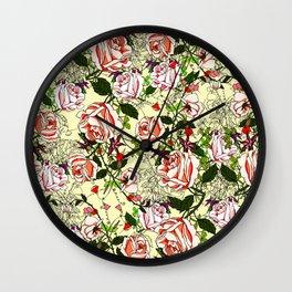 Vector flower illustration Wall Clock