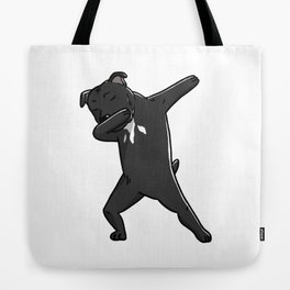 Funny Dabbing Staffordshire Bull Terrier Dog Dab Dance Tote Bag