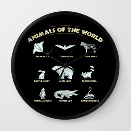 Animals of the World Wall Clock