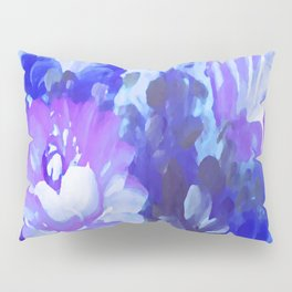 Painted Purple / Blue Flowers Pillow Sham