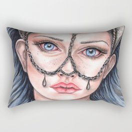 Viking Warrior Princess Fantasy Art Skull Crown Laurie Leigh Rectangular Pillow