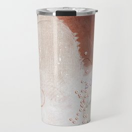 Abstract - Circulating - Richly Textured Design in Vermillion and Rust Color Travel Mug