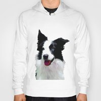 border collie Hoodies featuring Border Collie by Albert Tjandra
