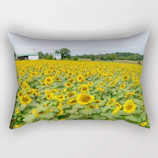 Field of Yellow Rectangular Pillow