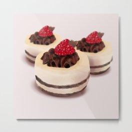 Raspberry Choco Tard Metal Print