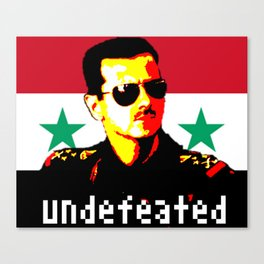 Undefeated Bashar Canvas Print