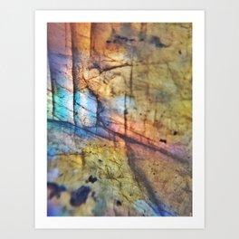Labradorite Macro Art Print