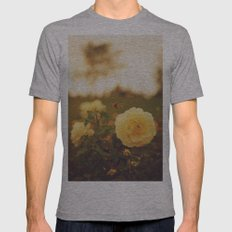 Yellow Roses Mens Fitted Tee Athletic Grey SMALL