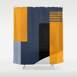 Abstract Geometric Space 1 Shower Curtain