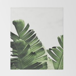 Banana leaf Throw Blanket