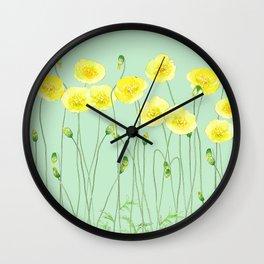 Yellow Wildflowers II Wall Clock