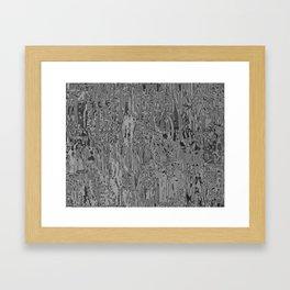 Metallia Grey Framed Art Print