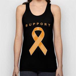 Orange Awareness Ribbon Unisex Tank Top