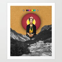frida Art Prints featuring FRIDA by Estera Lazowska