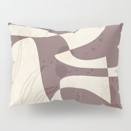 Abstract - Vase Shapes in Mauve Pillow Sham