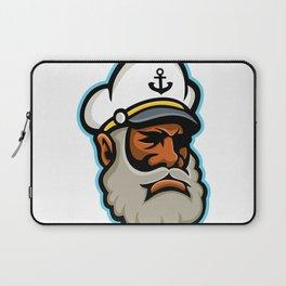 Black Sea Captain or Skipper Mascot Laptop Sleeve