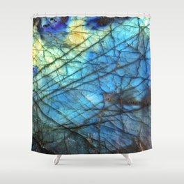 Royal Labradorite Crystal Agate Gemstone Print Shower Curtain